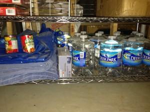 My basement shelf for emergency supplies