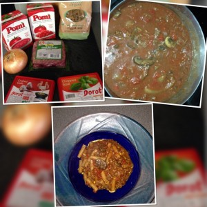 Quick and easy pasta and meat sauce